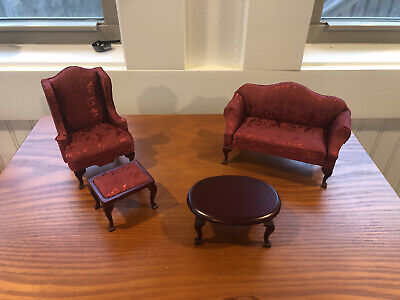 Dollhouse Furniture Living Room Sofa Chair And Coffee Table