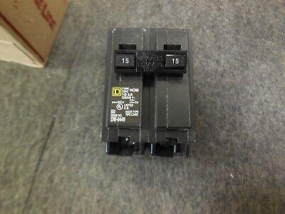 Square D Hom215 Homeline 15a Plug On Circuit Breaker