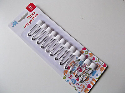 12 X NAPPY PINS SAFETY PINS DIAPER PINS BRAND NEW by Beautiful Beginnings