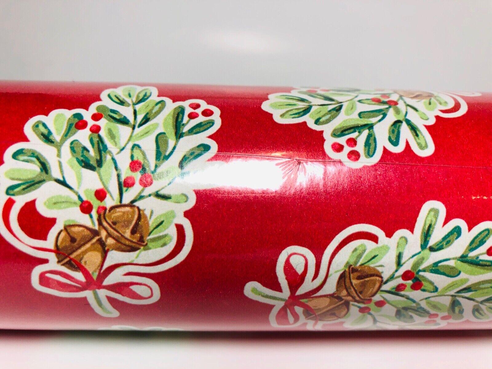 1 Roll Pioneer Woman Bells and Mistletoe Christmas Gift Wrap