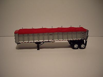 DCP FIRST GEAR 1/64 SILVER WITH RED TARP TANDEM AXLE EAST END DUMP TRAILER