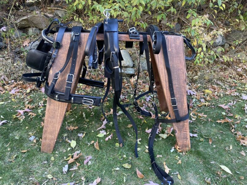 Leaders Worldwide Nylon/Leather harness For Cob Size
