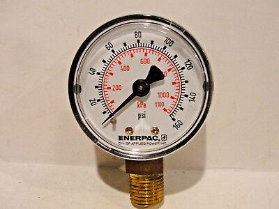 Enerpac Pressure Gauge Dual 0-160 Psi 200-1100 Kpa Bottom Mount
