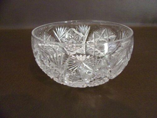 Small Crystal Bowl Cut Glass Vintage