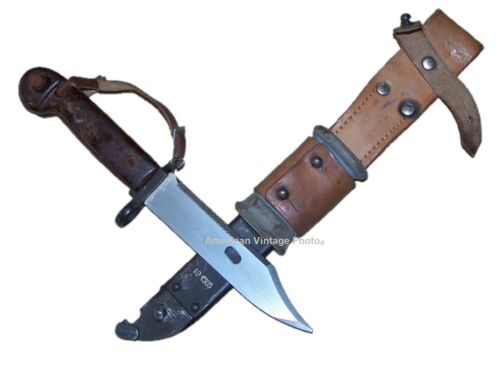 Knife Bayonet Romanian Military Wirecutter Scabbard Sawtooth Survival Blade