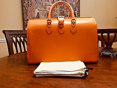 JACK GEORGES  Italian Leather Briefcase  /  Gladstone Doctor Bag  - US -