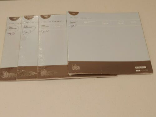 45 Sheets Total 3 Creative Memories Page Protectors & 15 Pages 12x12