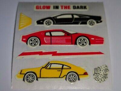 Sandylion Stickerabschnitt 90s Glow in the Dark Autos Sticker Stickeralbum RAR