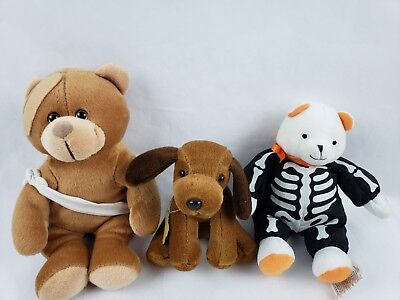 Dog Teddy Bear (Hallmark Halloween Bear Humane Society Dog & Injured Teddy Bear Lot of 3)
