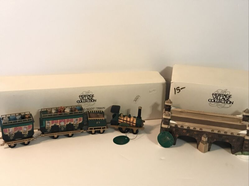 Dept 56 Heritage Village Collection Flying Scot Train Stone Tressel Accessory