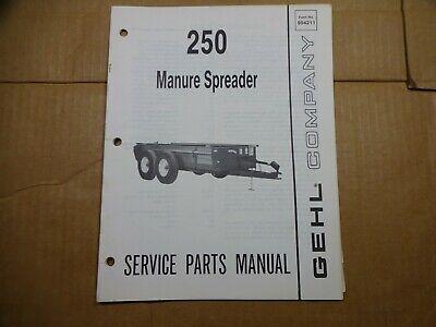 Gehl 250 Manure Spreader Parts Catalog Manual Book 1088