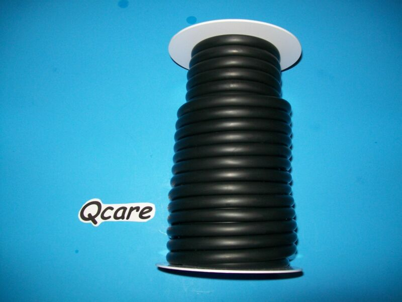 """50 Feet Black Rubber Latex Tubing 1/4""""ID 3/8""""OD Surgical 50ft Reel 1/16"""" wall"""