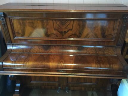 Beale upright grand piano with stool