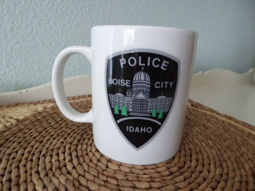 Vintage BOISE CITY POLICE Coffee Mug IDAHO Emblem Badge Shield Citizen Academy
