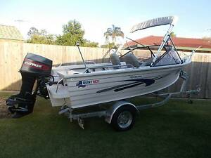 QUINTREX 455 ESCAPE BOAT 50HP EVINRUDE ON NEW TRAILER WITH REGO Caboolture Caboolture Area Preview