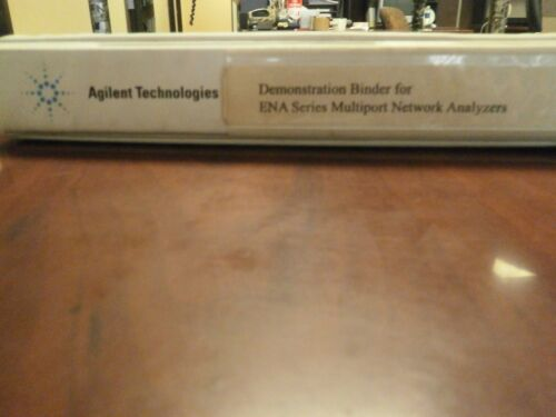 AGILENT TECHNOLOGIES DEMONSTRATION BINDER FOR ENA SERIES MULTIPORT NETWORK ANALY