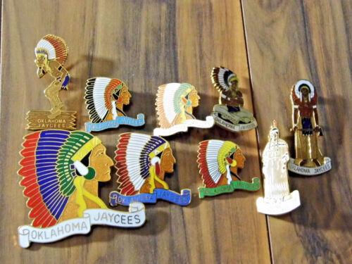 Jaycees trading Pins - Oklahoma Jaycees - Lot of 9 Pins
