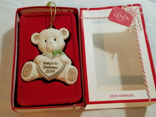 LENOX  Porcelain Unisex 2019 Teddy Bear Baby