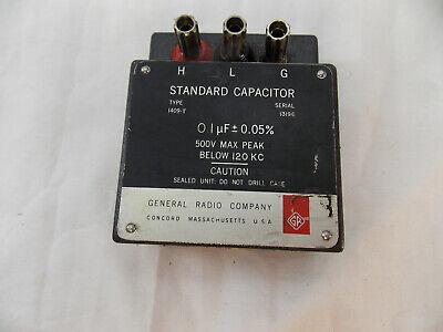 Genrad General Radio 1409-t Standard Capacitor 0.1uf 5