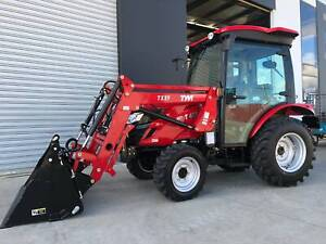 TYM T413 Cabin Tractor with Front end Loader, HST - Hydrostatic Trans Pakenham Cardinia Area Preview