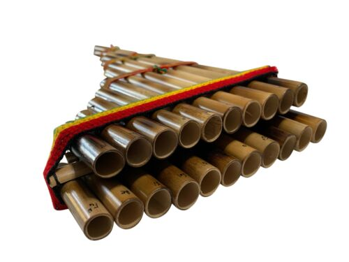 new 21 bamboo pipes in two rows Sampoña panflute beginners version by Walata