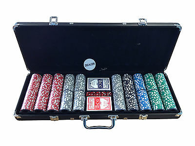 Ultimate Poker Set 500 piece 14g Clay Chips with Carry Case and FREE Accessories