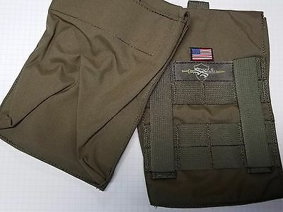 Molle Side Plate Pouches USA made lifetime warranty 6x6, 6x8. FOLIAGE GREEN