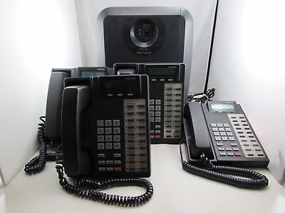 Toshiba Strata Ctx100 Ip Phone System Chsub112a2 4x Phones Dkt2020-sd Etc.