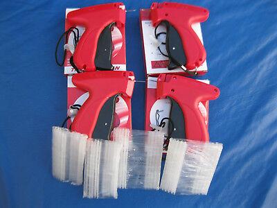 4 Fine Garment Price Label Tag Tagging Gun 4 Needles Pluse 1000 Barbs