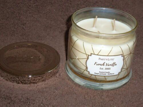 Partylite French Vanilla 3-wick Jar Candle -- NIB