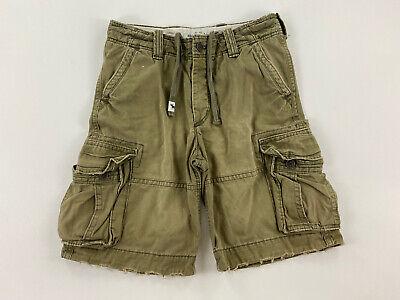 ABERCROMBIE - Men's Size 16 (32) - Green Khaki Cargo Shorts