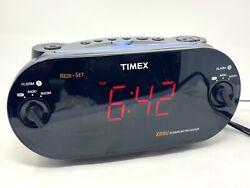 Timex XBBU T715 Redi-Set Dual Alarm Clock Radio AM FM Large Digital Display