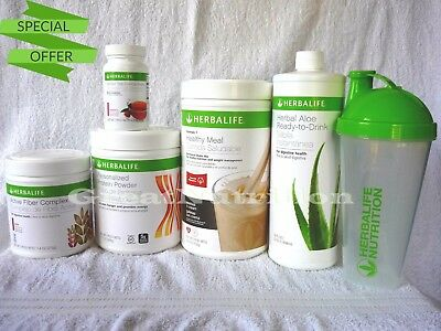 Herbalife Formula 1 Shake Mix Protein Fiber Aloe Tea Fast Shipping From Us