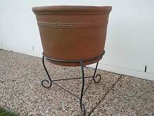 Large Terracotta Pot with Wraught Iron Stand Sippy Downs Maroochydore Area Preview