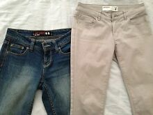 size 6-8 skinny jeans and 3/4 pants Lane Cove North Lane Cove Area Preview
