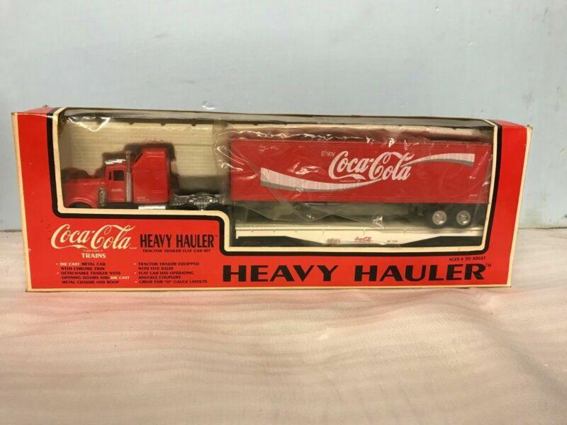 Vintage Coca-cola Trains Heavy Hauler Tractor Trailer O Gauge Die Cast 8 ^ Coke