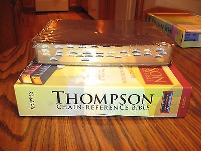 Kjv Thompson Chain Reference Burgundy Bonded Leather Bible  Thumb Indexed  Sale