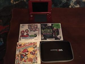 New Nintendo 3DS system, games and case