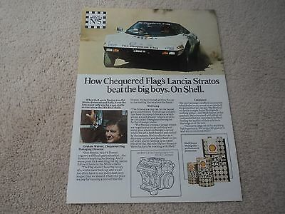 Lancia Stratos (Chequered Flag)   -  (Shell Oils) Advertisement