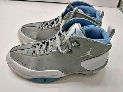 Nike Air Jordan Melo M3 Mens Silver Blue Basketball Shoes Size 5Y