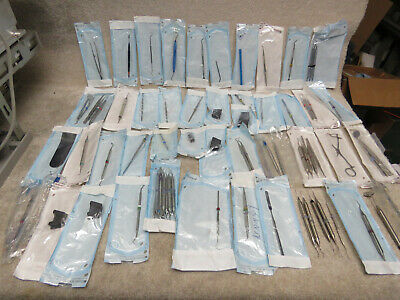 Lot 2 Huge Lot Of Dental Instruments 76 Pieces - Hu Friedy Peerless Etc