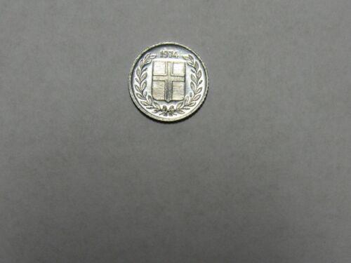 Old Iceland Coin - 1974 10 Aurar - Circulated