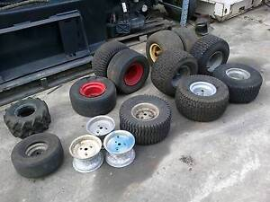various ride on mower wheels and tyres from Capalaba Brisbane South East Preview