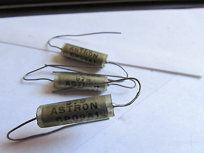 Astron Axial Glass Paper In Oil Capacitor .0015uf 600v 10 Cp09a1kf152k1 Audio