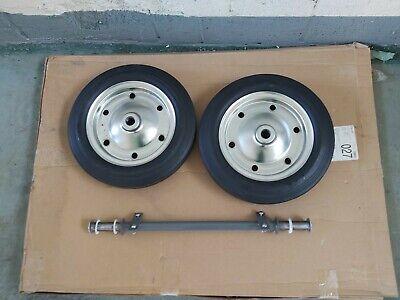 Pair Of Heavy Duty Wheelbarrow Wheels  with Axle