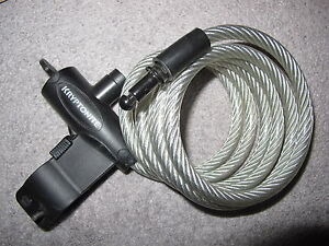 Kryptonite Keeper Coiled Cable Key Bicycle Lock 6 feet