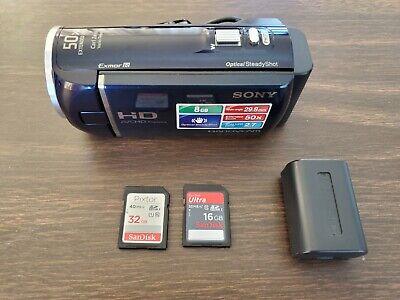 Sony HandyCam HDR-CX290 8GB Digital Camcorder Black with extras