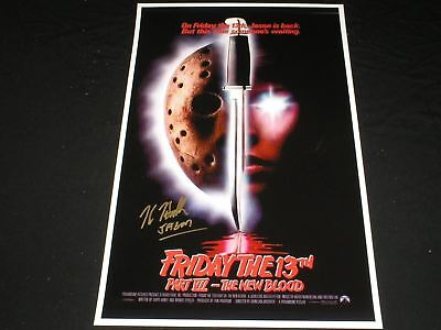 KANE HODDER Signed 11x17 The New Blood Poster Jason Voorhees