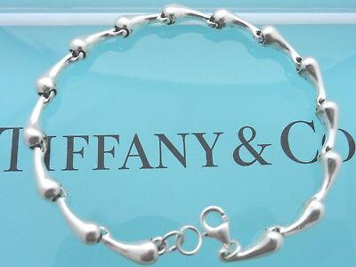 """Tiffany & Co. Elsa Peretti Sterling Silver 15.4 Gram 7 1/2"""" Teardrop Bracelet"""