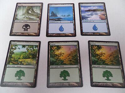 lot 30 cartes Magic The Gathering basic land, mountain, plains, île, forest...